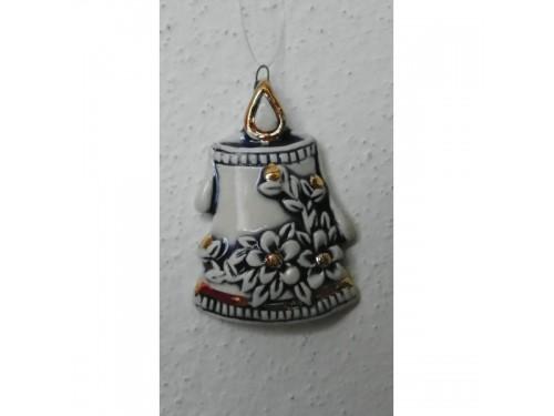 Svícen modrý,Vánoční keramika