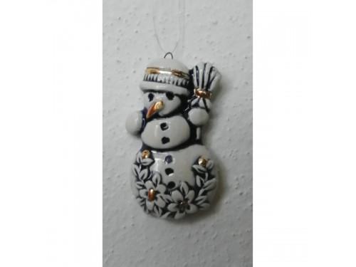 sněhulák modrý keramický