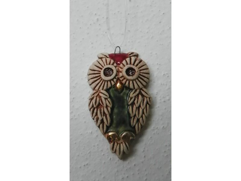 Sovička bordová (symbol moudrosti)