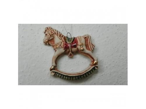 Koník houpací bordo Vánoční