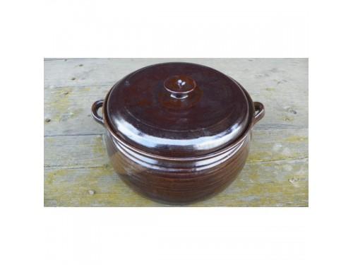 Kastrol keramický ručně točený 4 litry