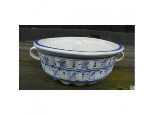 Bábovka velká 2 litry,modrá makovice