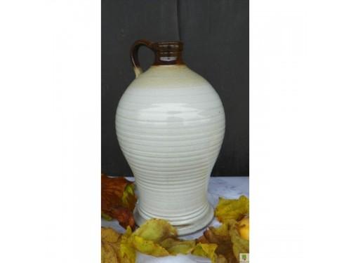 Flaška Dva litry keramická bílá