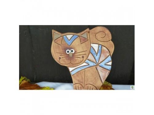 Kočka keramická ,na zeď