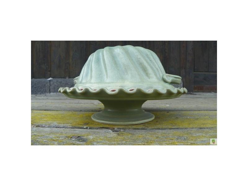Bábovka keramická s podnosem zelená