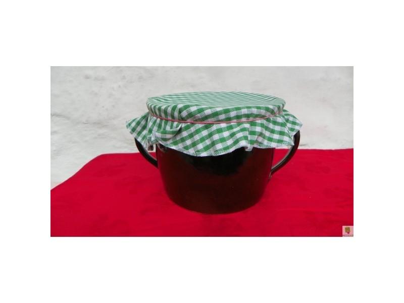 Sádlák rovný dva litry se zeleným kanafasem.