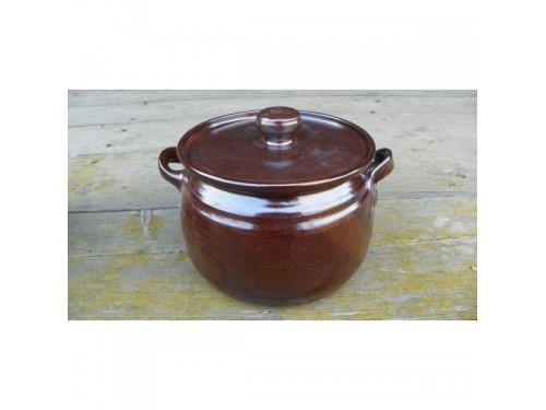 Keramický kastrol  točený 1 litr.