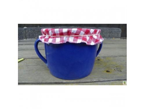 Sádlák modrý 2 litry červený kanafas