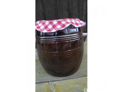 Sádlák soudek 1 litr- červený kanafas