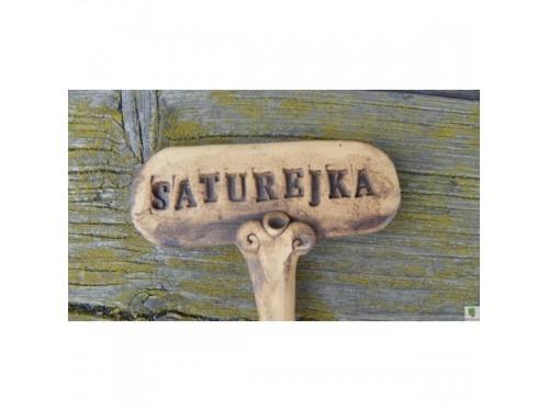 Keramické zapichovátko -saturejka
