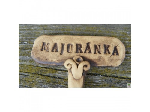 Keramické zapichovátko majoránka
