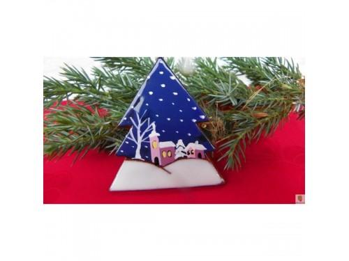 Stromek vánoční ozdoba zasněžená krajina