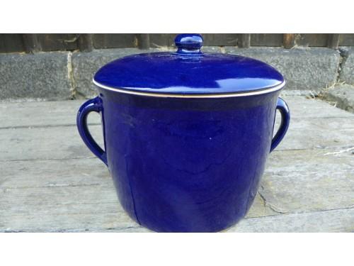 Hrnec na sádlo 5.litru s víkem,modrý.