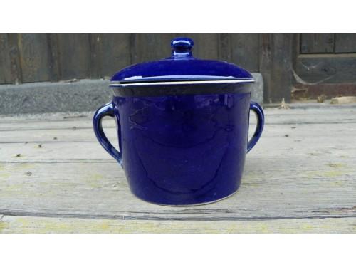 Sádlák modrý 2.litry s víčkem.