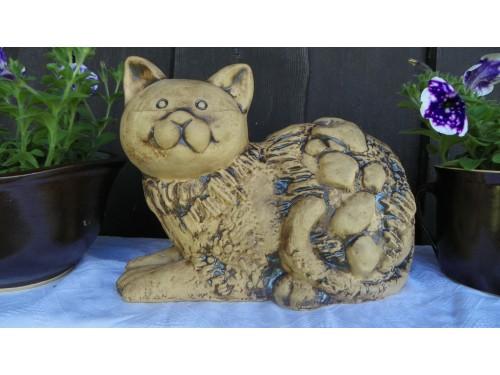 Kočka keramická velká.