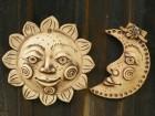 Slunce a měsíc plastika na zeď