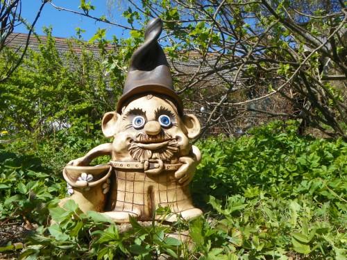 Zahradní trpaslík s kyblíkem-42cm