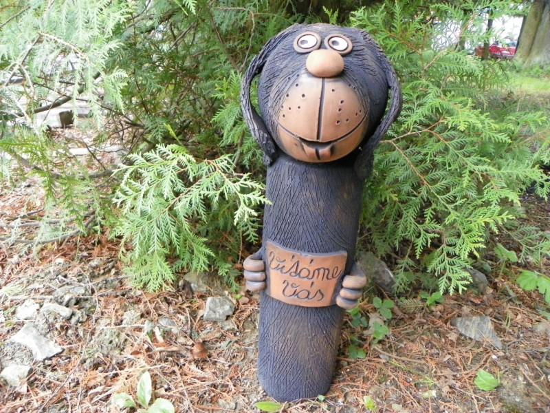 Vítací pejsek-zahradní dekorace